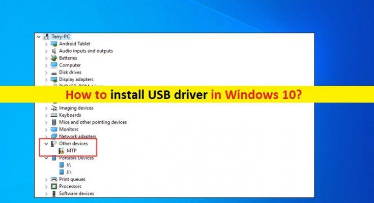 Como instalar o driver USB Windows 10